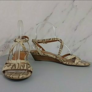 Snakeskin Print Strappy Sandals Cole Haan 8.5B